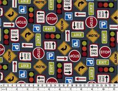 Straßenschilder auf Grau - Grey Road Signs - Autos & Trucks   Quiltzauberei - Lifestyle für Nähwittchen, Stricklieseln & Basteltanten