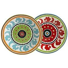 have hese and love them...put them with all different kind of dinner plates ( Pier One)