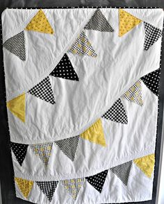 Hawkeye Inspired Baby Quilt , but do the Seahawks, another view.