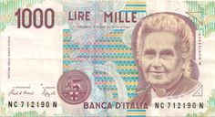 Motivseite: Geldschein-Europa-Südeuropa-Italien-Lira-1000-1990