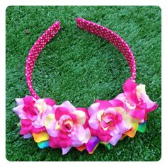 PHOEBE REVERSIBLE FLORAL HEADBAND by Sweet As Candy Vintage