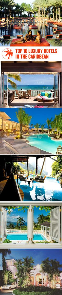 Top 10 luxury hotels in the Caribbean! 😍