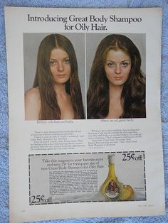 1972 Clairol Great Body Ad.  Loved this stuff