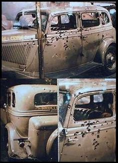 I saw the Bonnie & Clyde car when I was a baby.  I don't remember seeing it but I've seen the pics.  I think we should all show our kids this & show them what can happen when you hang out with the wrong people.