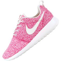 Nike Roshe Run WMNS Speckle Pack ❤ liked on Polyvore featuring shoes, sneakers, nike and pink