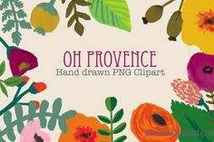 Hand drawn digital flowers by cherylwarrick on Creative Market