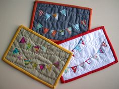 mug rugs .. need to practice my free motion quilting.. good choice