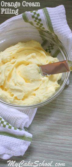 Delicious Orange Cream Filling Recipe by Online Cake Tutorials Recipes Frosting Recipes, Cupcake Recipes, Cupcake Cakes, Dessert Recipes, Cupcake Fillings, Easter Recipes, Fillings For Cakes, Recipes Dinner, Car Cakes
