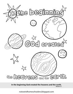 Free Bible verse coloring page for Genesis 1:1