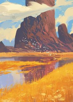 """Rocks and River"" by Amir Zand, Digital, 2017 - Art"