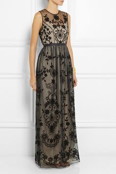 Needle & Thread | Embroidered silk-organza gown | NET-A-PORTER.COM