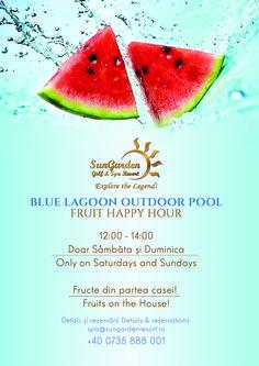 August Fruit Happy Hour - Sun Garden Resort Sun Garden, Blue Lagoon, Outdoor Pool, Happy Hour, Celebrations