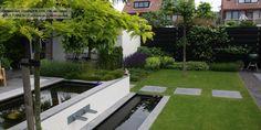 white on green modern garden design