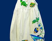 Hand Painted Sealife Empire Dress for Girls by deborahwillarddesign on Etsy, $42.00 USD