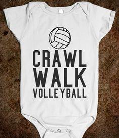 Crawl Walk Volleyball Baby One Piece