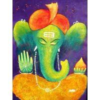 images of lady contemporary for painting Lord Ganesha, Lord Shiva, Hindu India, Ganesha Painting, Vedic Astrology, Hindu Art, New Beginnings, Dinosaur Stuffed Animal, Contemporary