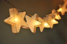White mulberry paper Stars Lanterns