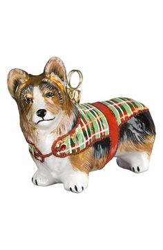 Joy to the World Collectibles 'Dog in Tartan Sweater' Ornament available at #Nordstrom