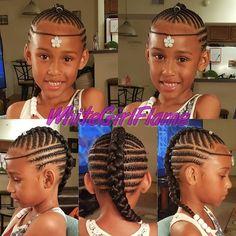 Hooked my girl up #WhiteGirlFlame #MsFlavasCreations #KidsBraids #Braids