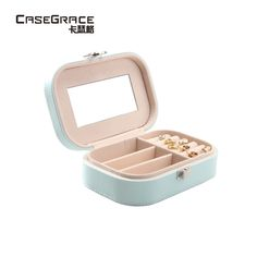 Casegrace necklace bracelet ring jewelry storage boxes round