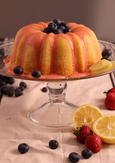 There is nothing artificial in this Lemon Pound Cake with Fresh Strawberry Icing. The cake is moist and the strawberry icing is out of this world! Meyer Lemon Recipes, Lemon Desserts, Delicious Desserts, Neapolitan Ice Cream Cake, Mini Cherry Cheesecakes, Sweet Recipes, Cake Recipes, Strawberry Icing, Pound Cake With Strawberries