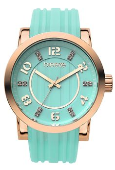 Light green with pink gold BREEZE watch
