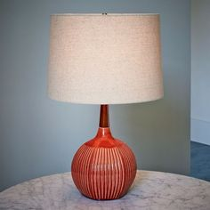 Dbo home table lamp paprika west elm throughout red lamps decor 19 Red Table Lamp, Ceramic Table Lamps, Craftsman Lighting, Mid Century Modern Lighting, Interior S, Interior Design, My Living Room, Mid-century Modern, Modern Table