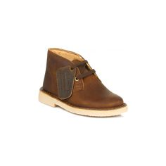 First Beeswax Leather #clarkskidsshoes,  with great style the iconic #clarksdesertboots have been designed for boys feet - £ 37.99