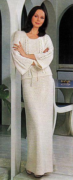 Vintage Crochet Pattern PDF Flared Sleeve by PastPerfectPatterns, £1.50