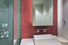 bathroom tile glass wall