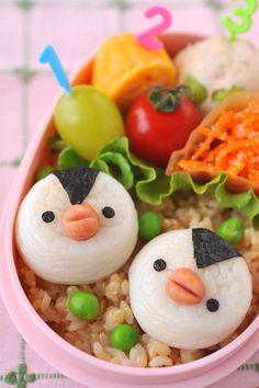 How to make a Surimi Penguin Bento ペンギン弁当