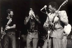 Eric Clapton, Sugar Blue and Buddy Guy 1985 Tumblr