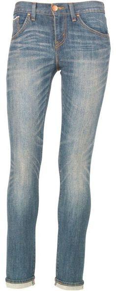 Levi's Womens Boyfriend Skinny Jeans Painted Blue £26.99 66% OFF!