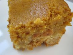 YUM! Paula Deen's Ooey Gooey Pumpkin Butter Cake...and here's to another recipe I know I will love!!! so get used to hearing about it:)