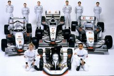 McLaren Soul Now this is a great picture of the McLaren family in 1998! Here you can see Ralph Firman and Norman Simon (Formula 3). Mika Hakkinen and David Coulthard (Formula 1). Ricardo Zonta and Nicolas Minassian (Formula 3000), and Wesley Graves and Lewis Hamilton (Go-kart).