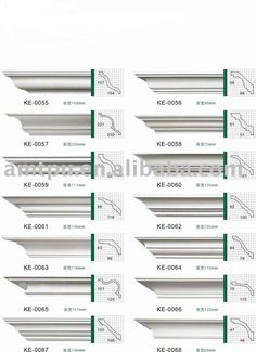Molding profiles for cornices: