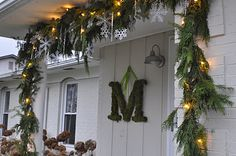 Thinking Outside The Boxwood: Holiday at Home - i LOVE the moss letter, this could be the starting point for our Christmas outside decorations this year! Christmas Porch, Christmas Signs, Christmas Holidays, Christmas Crafts, Christmas Ideas, Holiday Ideas, Natural Christmas, Winter Ideas, Christmas Stuff