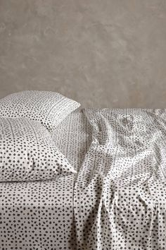 These black and white mosaic patterned sheets would make a nice contrast to any colored quilt or duvet Anthropologie Bahia Sheet Set