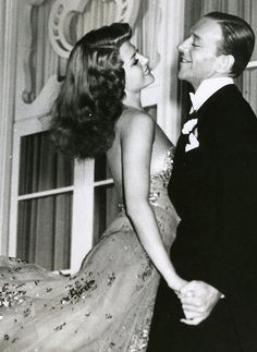 Rita Hayworth and Fred Astaire. Elegant