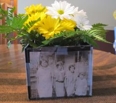 90th birthday - special photos in vases
