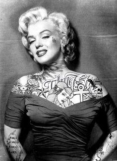 Marilyn with tattoos? awesome-tattoo-divas-by-jason-rhill-marilyn-monroe nsmbl.nl