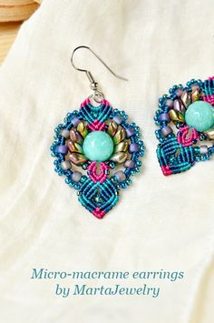 Macrame earrings by MartaJewelry