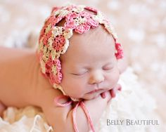 Heirloom Flower Bonnet Crochet Pattern