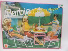 Barbie Backyard Playset VTG 7750 1989 Mattel - Shelly Huynh - Re-Wilding Barbie 80s, Barbie World, Barbie And Ken, Vintage Barbie, Vintage Toys, Barbie House Furniture, Backyard Playset, Barbie Playsets, Barbie Sisters