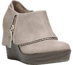 Dr. Scholl's Breeanna Wedge Bootie - Taupe Faux Suede with FREE Shipping & Exchanges. Funky and feminine, the Breeanna Wedge Bootie is a fun silhouette that's perfect for any casual