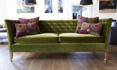 Descartes Sofa in Olive, sofa.com