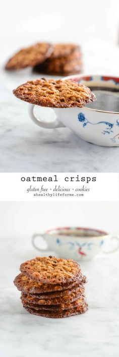 Oatmeal Crisps are thin flavor packed gluten free cookies - A Healthy Life For Me