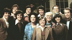 The Osmond family. Alan, Merrill, Donny, Wayne, Mother Olive, Jimmy, Jay, Father George, Marie, Tom and Virl.
