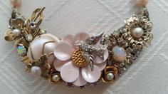 Hey, I found this really awesome Etsy listing at https://www.etsy.com/listing/216191680/vintage-jewelry-collage-necklace-pale