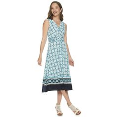 Effortless style is yours with this women's Dana Buchman dress. Summer Work Dresses, Womens Size Chart, Petite Size, Plus Size Women, Knots, Paisley, Turquoise, Medium, Blue